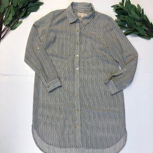 Michael Kors || Button Down Striped Dress